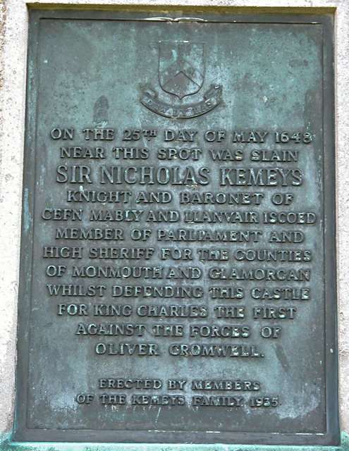Chepstow Castle - Sir Nicholas Kemeys Memorial