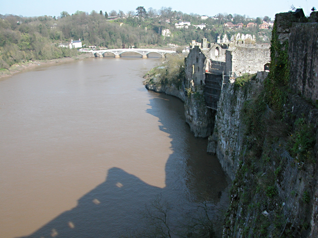 Chepstow 1816 Bridge from the Castle