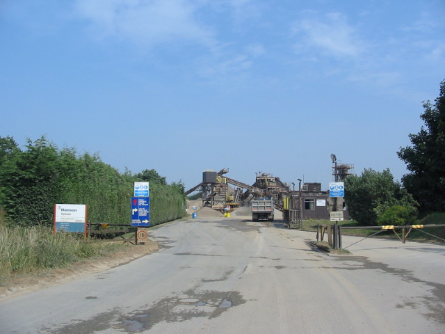 Current site of the sand and gravel plant in Charm Park