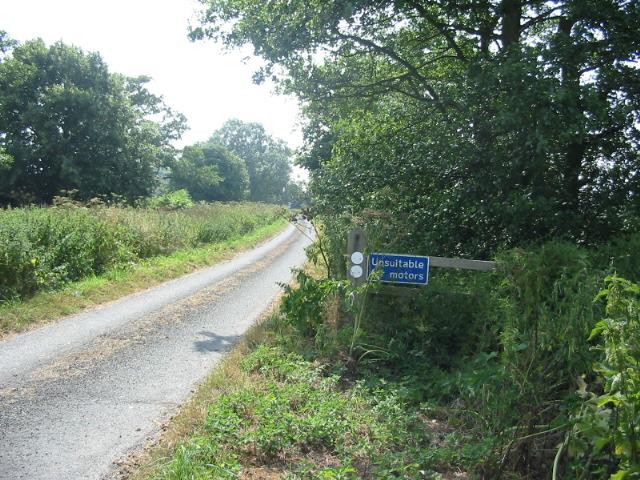 Tarmac track to Wykeham Carr Farm