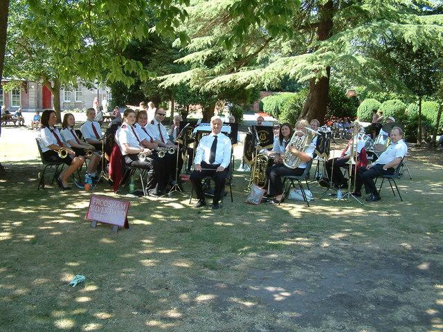 Frodsham Silver Band in Castle Park, Frodsham