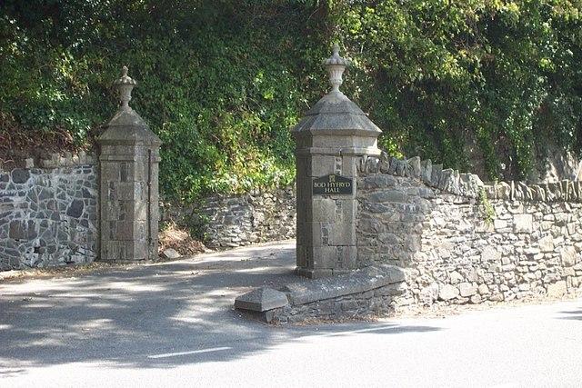 Bod Hyfryd Hall entrance