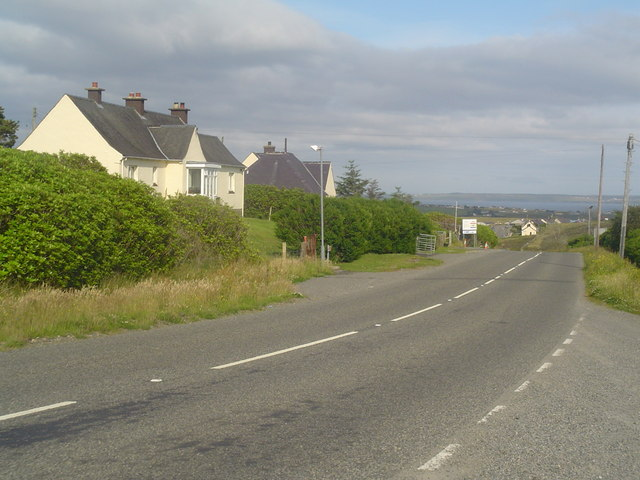 Houses beside the A857