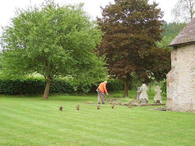 Tending the churchyard