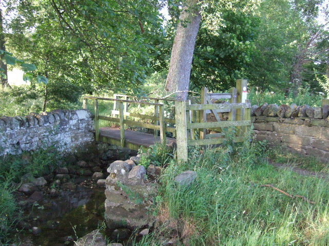 Footbridge over small stream