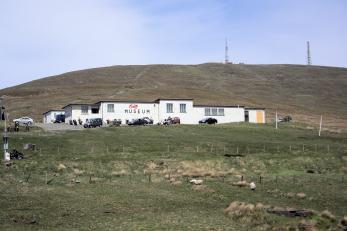 Murrays bike museum in the foreground to Snaefell