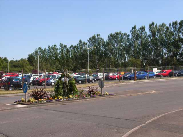 The car park at Pirelli's, Dalston Road, Carlisle