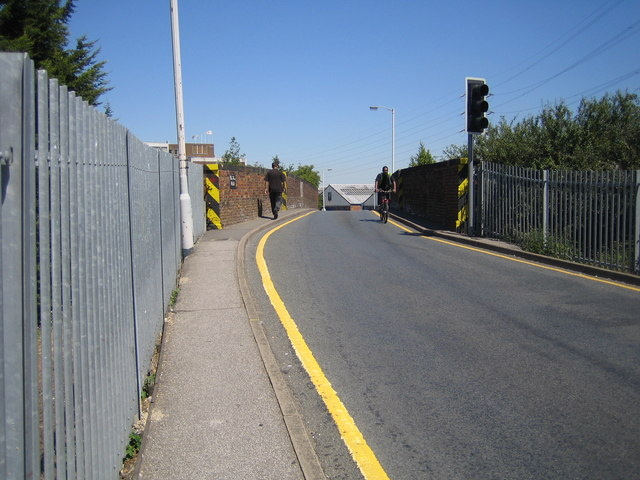 Slough: Leigh Road bridge