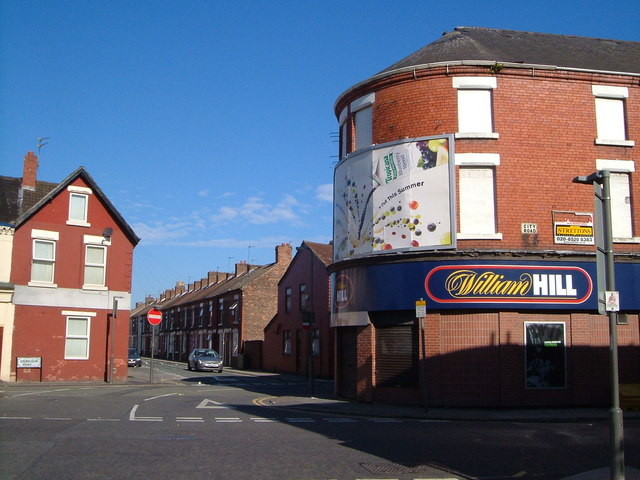 Junction of City Road and Goodison Road, Walton