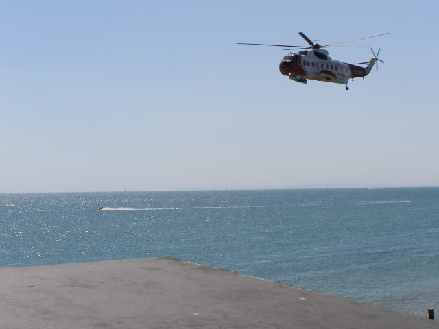Coastguard helipcopter at Milford on Sea