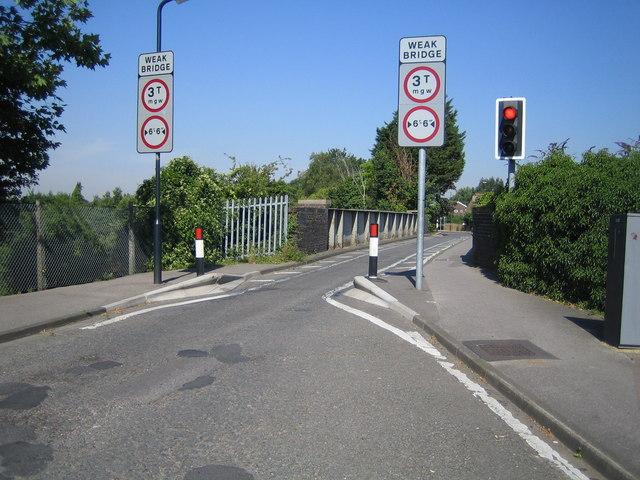 Cox Green: Highfield Lane bridge