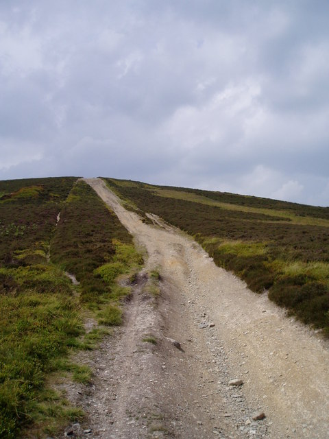 Footpath up Moel y Gaer