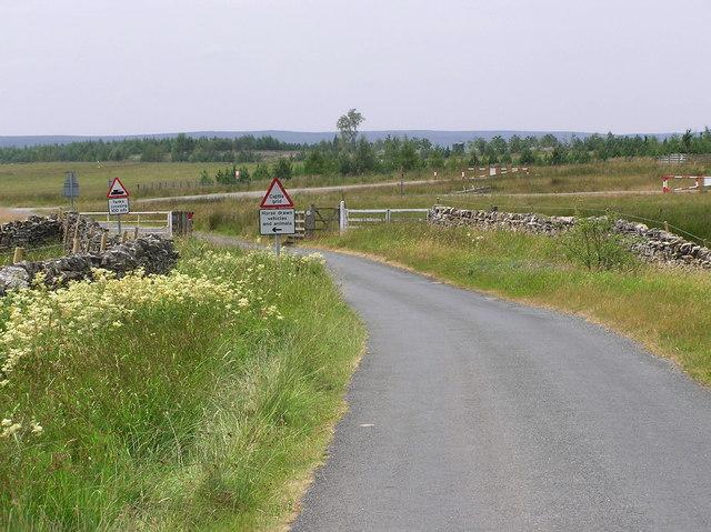 Cattle Grid : Downholme Moor