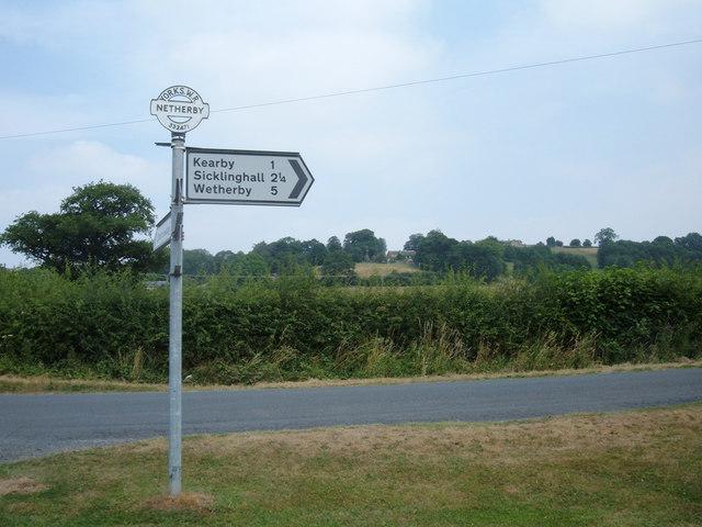 Signpost at Spring Moor