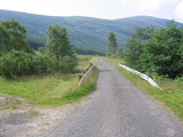 Single track road through Glen Orchy