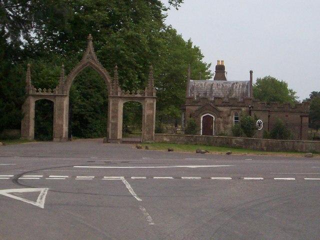The main gate to Clytha Park
