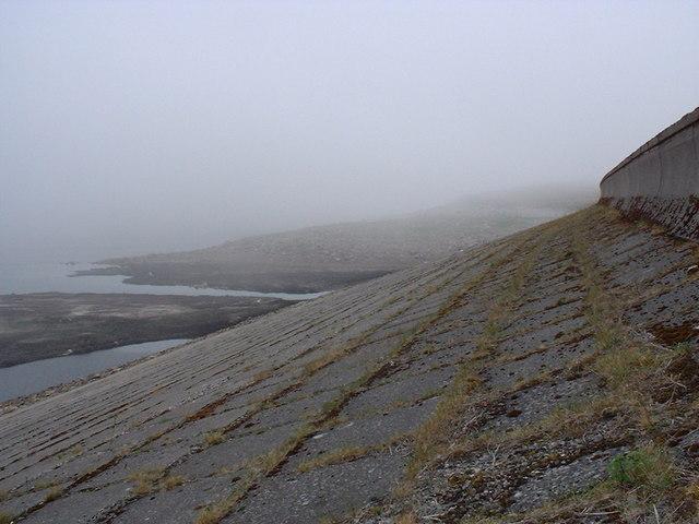 Embankment dam at Orrin Reservoir