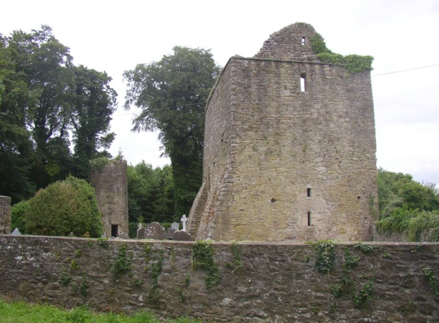 Aghaviller ruined church and round tower, Newmarket, Co. Kilkenny