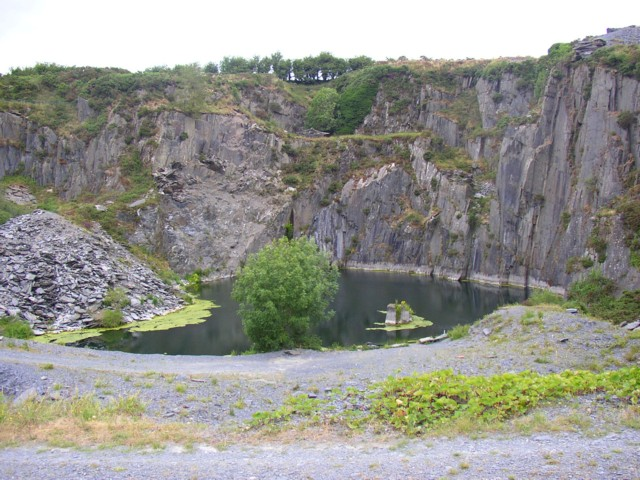 Disused slate quarry near Inchanaglogh, Co. Kilkenny