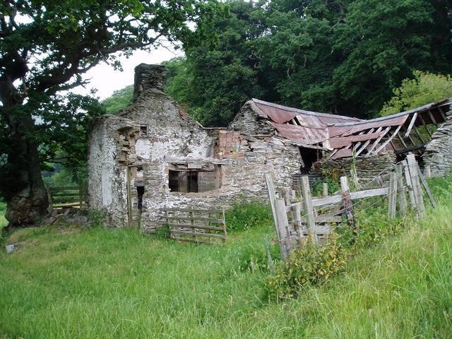 Ruined farmhouse.