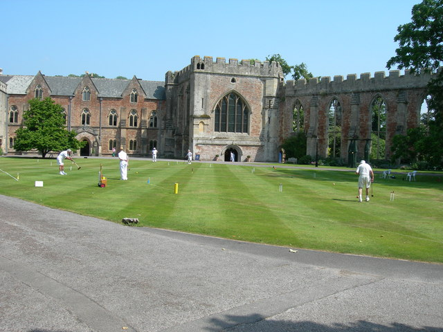 Croquet on the lawn of The Bishops Palace, Wells