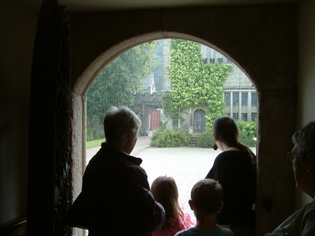 Waiting in the Rain at Lanhydrock