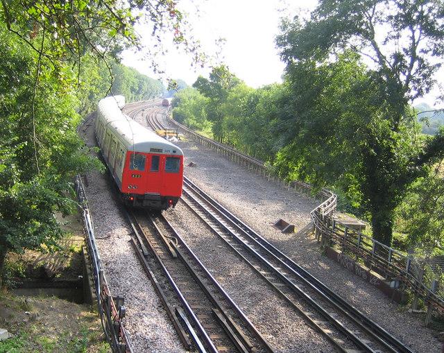 Metropolitan & Piccadilly Lines railway near Ickenham