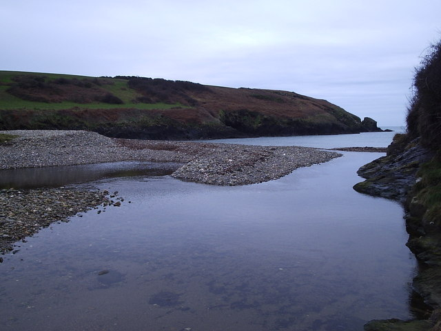 Shingle beach, Aber Rhigian bay,  North Pembs.