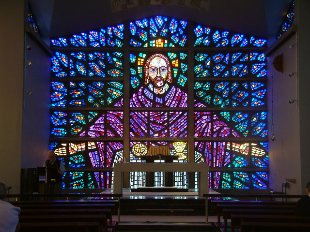 Stained Glass Window at Buckfast Abbey