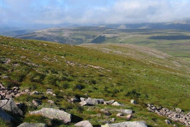 Descending Beinn a' Bhuird