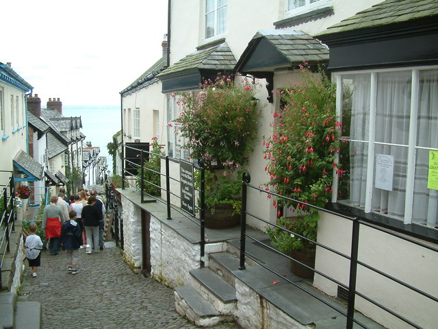 Clovelly's Cobbled Street