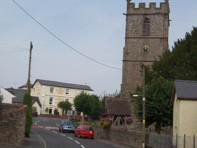 St Cadoc's Church and The Beaufort Inn, Raglan