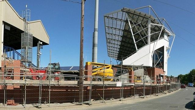 Construction of the Carnegie Stand, Headingley Stadium