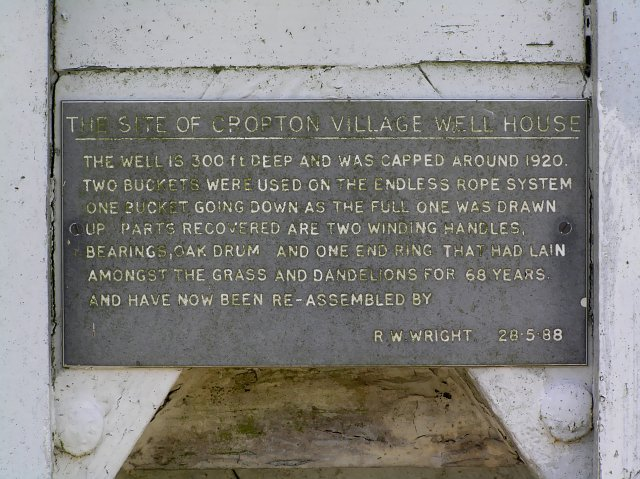 Information on Cropton's Well