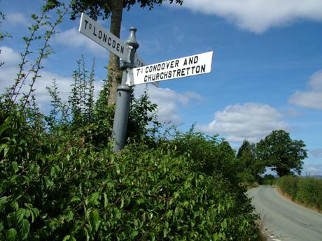Signpost at Arscott