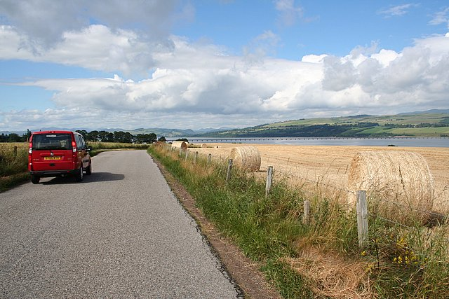 Looking westwards to the Cromarty bridge from the B9163.