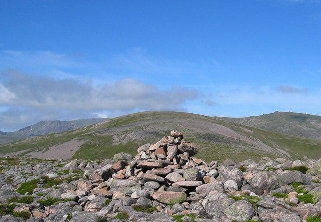 Summit of Beinn a' Chaorainn Bheag