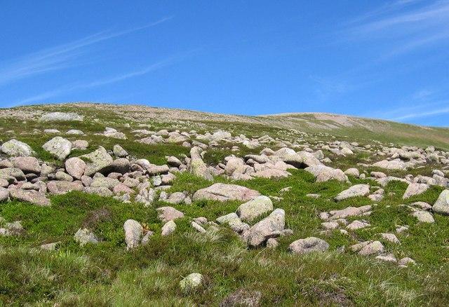 Southern approach to Beinn a' Chaorainn