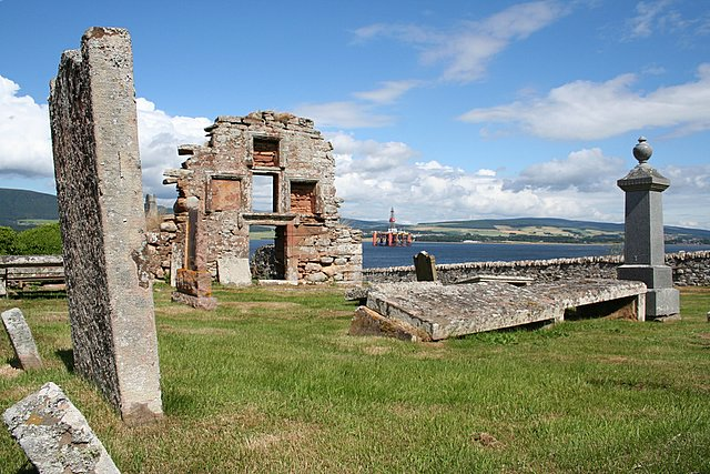 An historic church and graveyard on the shores of Cromarty Firth.