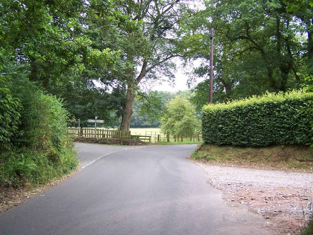 Junction Near Charnes Hall