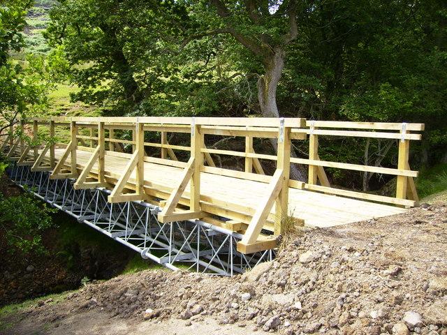 Rebuilt footbridge in upper Farndale
