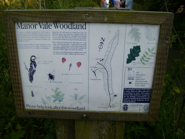 Sign on entering Manor Vale Woodland Nature Reserve