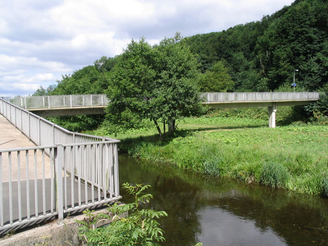 Footbridge over the River Gala