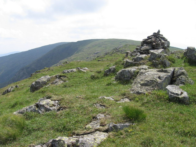 Millfire cairn looking towards Milldown