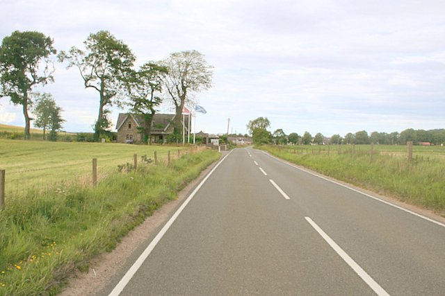 Approaching the Knockomie Hotel turn off on the left