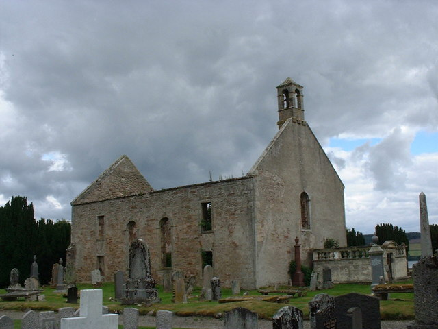 The old church at Kiltearn burial ground
