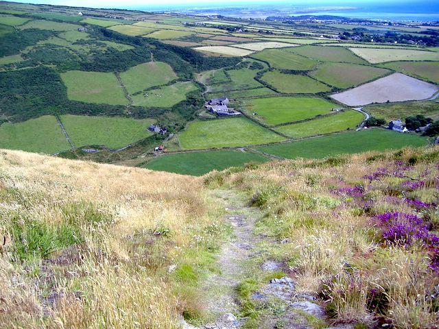 Fleshwick farm from Bradda Hill, Isle of Man