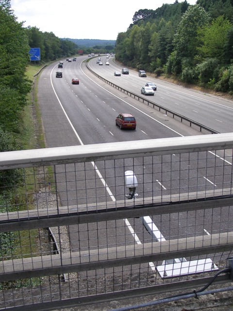 The M27 westbound between junctions 1 and 2, Copythorne