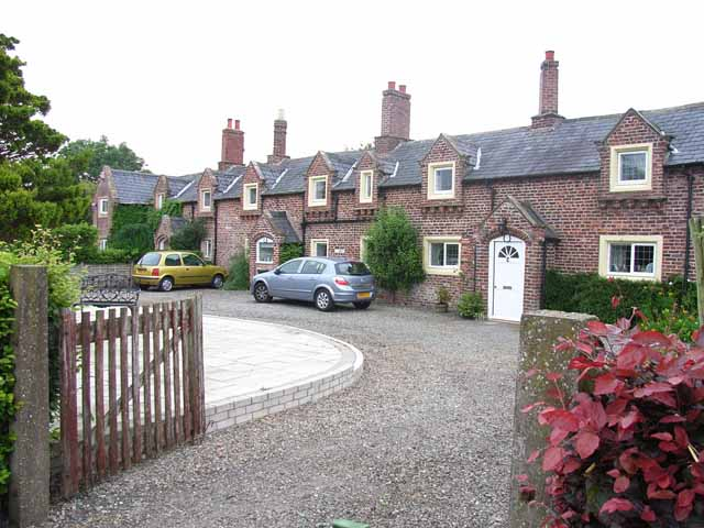 Row of cottages at Linstock