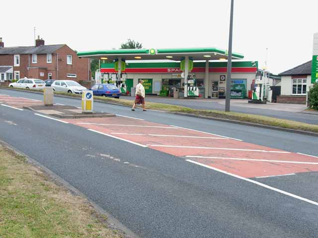Spar shop and filling station, Warwick Bridge
